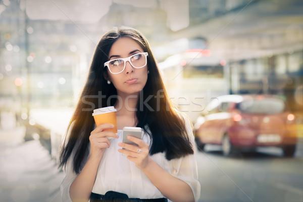 Decepcionado taza de café expresivo Foto stock © NicoletaIonescu