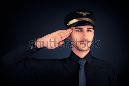 Pilot Launching Paper Airplane  Stock photo © NicoletaIonescu
