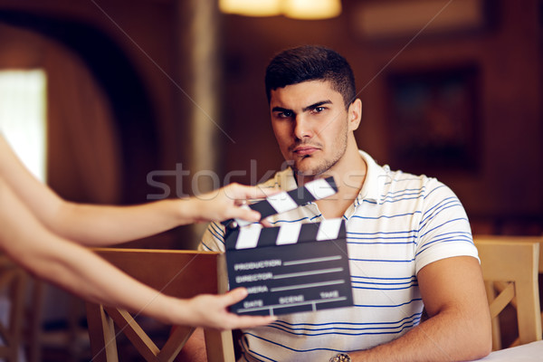 Professional Actor Playing a Tough Guy Role Stock photo © NicoletaIonescu