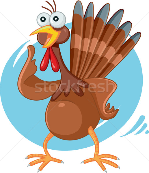 Ijedt Törökország vicces vektor rajz illusztráció Stock fotó © NicoletaIonescu