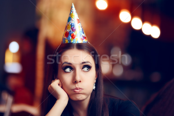 Smutne nudzić kobieta strony nie zabawy Zdjęcia stock © NicoletaIonescu