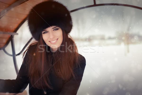 Young Woman Wintertime Portrait Stock photo © NicoletaIonescu