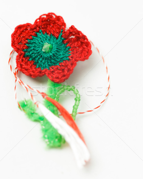 Crochet fleur décoratif objet textiles Photo stock © NicoletaIonescu