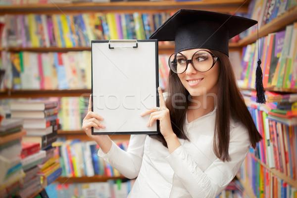 Feliz escolas estudante clipboard retrato Foto stock © NicoletaIonescu
