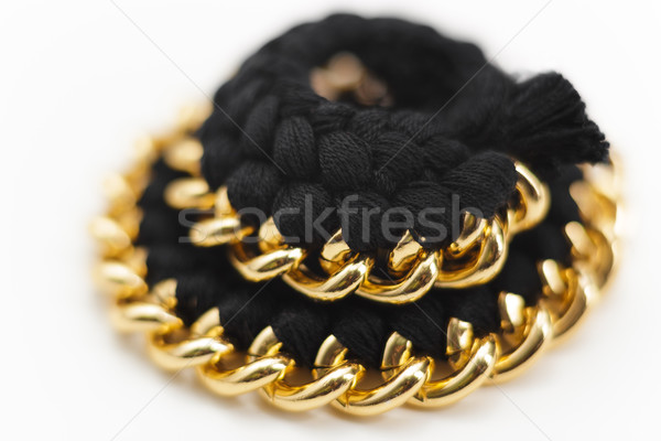 Chain and Wool Jewelry Statement Necklace Stock photo © NicoletaIonescu