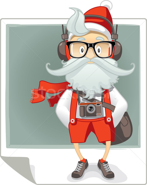 Santa Claus Hipster Style Cartoon Stock photo © NicoletaIonescu
