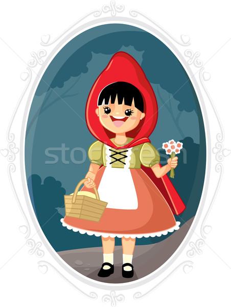 Little Red Riding Hood Vector Cartoon Stock photo © NicoletaIonescu