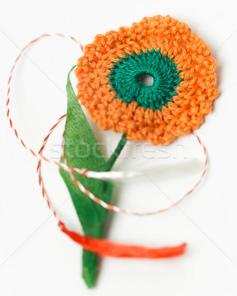 Tığ işi çiçek el yapımı dekoratif nesne tekstil Stok fotoğraf © NicoletaIonescu