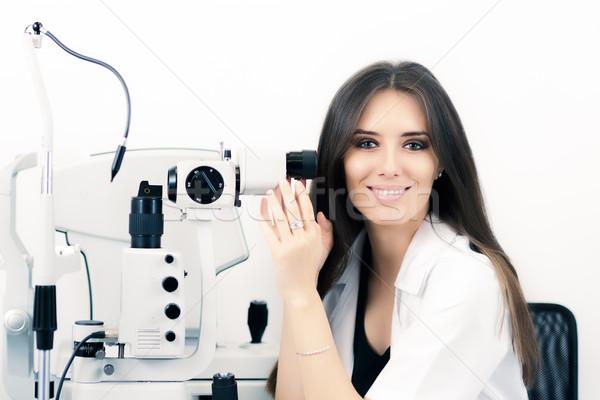 眼鏡屋 座る ランプ 楽器 準備 視力検査 ストックフォト © NicoletaIonescu