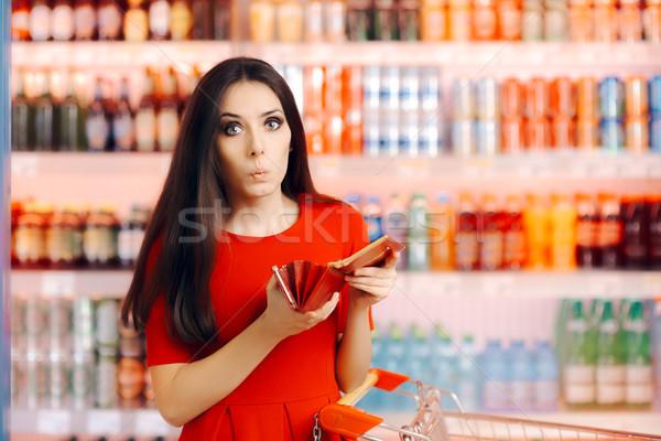 Vicces vásárló pénztárca részleg bolt vásárló Stock fotó © NicoletaIonescu