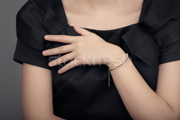 Close up Detail of a Bracelet on a Female Hand Model Stock photo © NicoletaIonescu