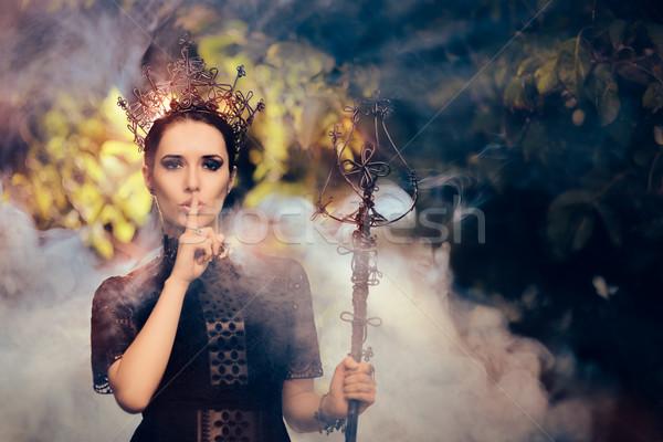 Dark Queen Holding a Secret  Stock photo © NicoletaIonescu