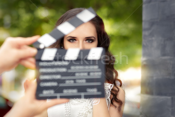 Elegant Woman Ready for a Shoot Stock photo © NicoletaIonescu