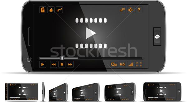 Vídeo jogador múltiplo interface Foto stock © NicoletaIonescu
