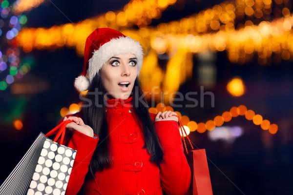 женщину Рождества справедливой красивая девушка Сток-фото © NicoletaIonescu