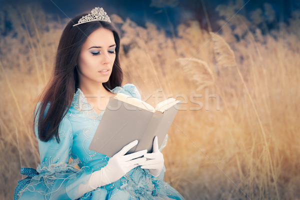 Beautiful Princess Reading a Book Stock photo © NicoletaIonescu