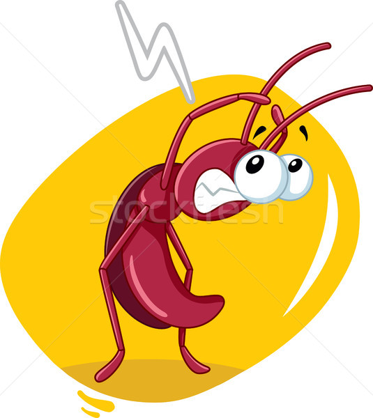 Scared Cockroach Insect Vector Cartoon Stock photo © NicoletaIonescu