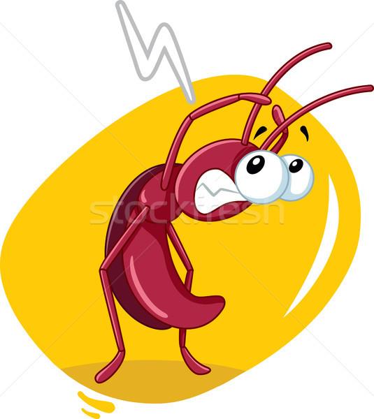 Korkmuş hamamböceği böcek vektör karikatür kötü Stok fotoğraf © NicoletaIonescu