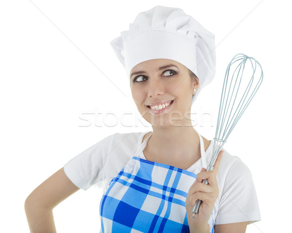 Woman Cook with Egg Beater  Stock photo © NicoletaIonescu
