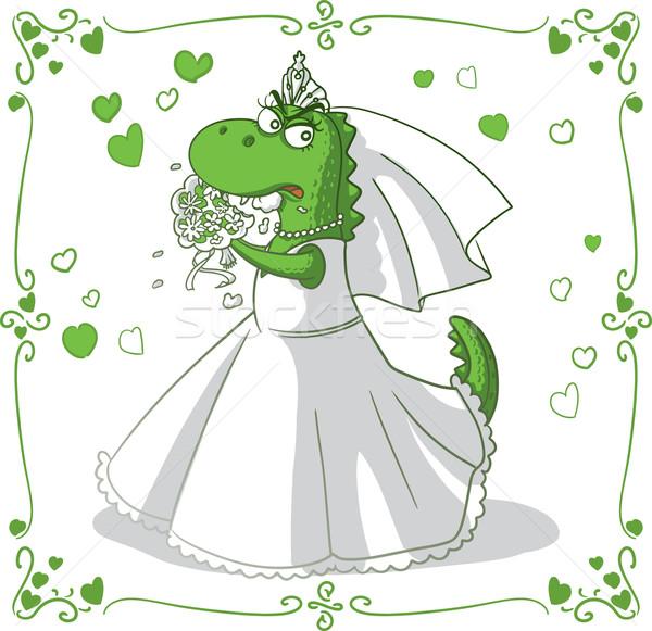 Bridezilla Vector Cartoon  Stock photo © NicoletaIonescu