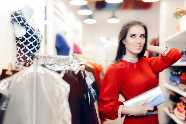 Eleganten Frau Silber Kupplung Tasche Warenkorb Stock foto © NicoletaIonescu
