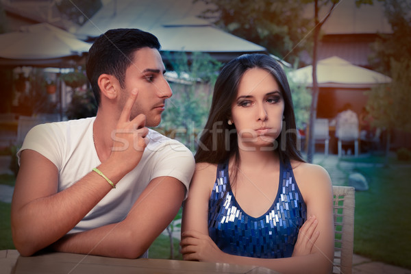 Cute Young Couple Arguing  Stock photo © NicoletaIonescu