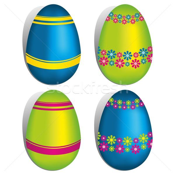 Photo stock: Joyeuses · pâques · carte · de · vœux · heureux · enfants · résumé · design