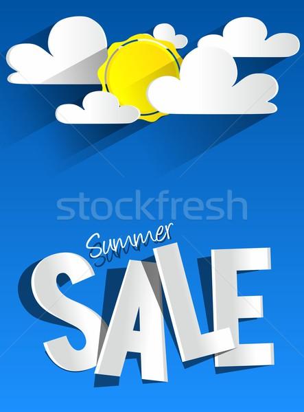 été vente nuages soleil affaires mode Photo stock © nicousnake