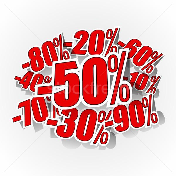 Réduction grand vente Creative résumé horizons Photo stock © nicousnake