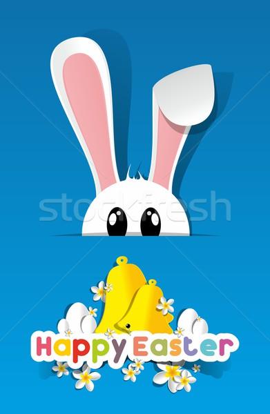 Joyeuses pâques carte de vœux heureux enfants résumé design Photo stock © nicousnake