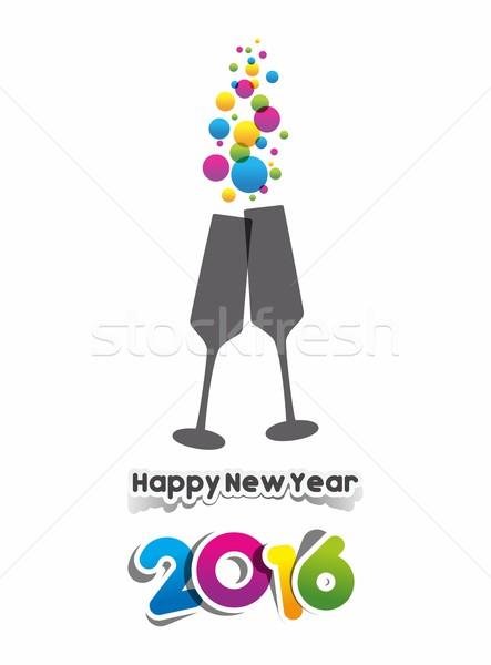 Happy new year 2016 Stock photo © nicousnake