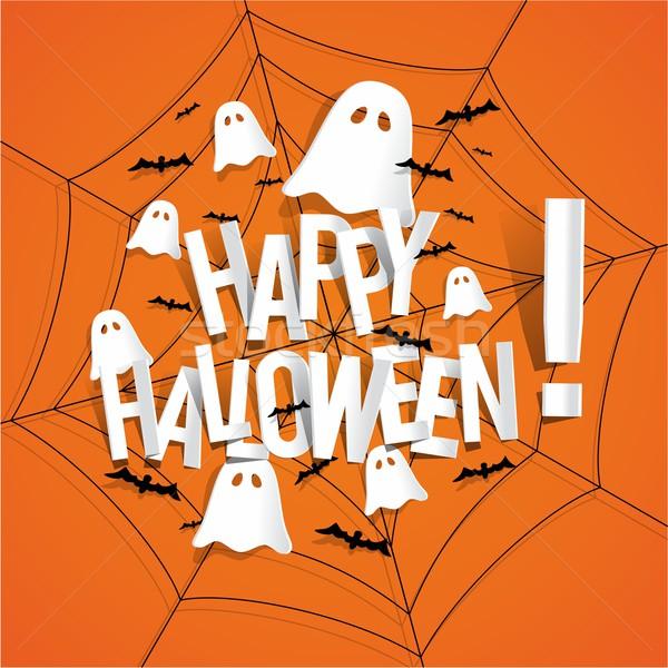 счастливым Хэллоуин карт Элементы аннотация Сток-фото © nicousnake