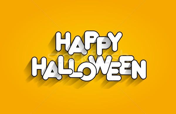 Heureux halloween carte fond art orange Photo stock © nicousnake
