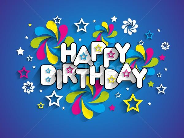 Joyeux anniversaire carte de vœux papier texture fête heureux Photo stock © nicousnake