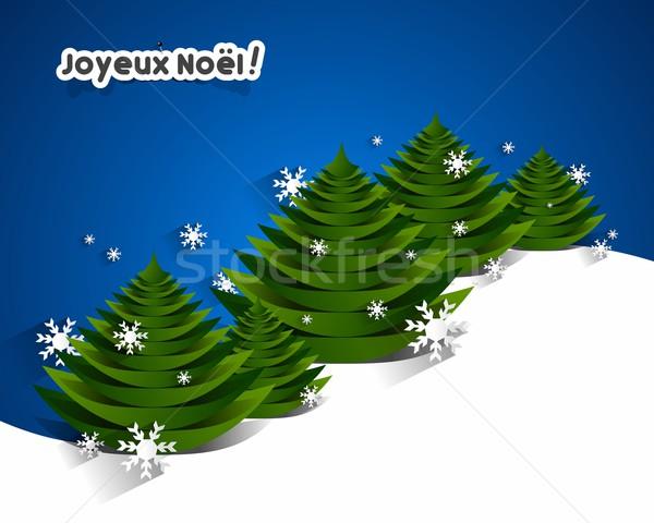 Joyeux Noël carte de vœux Creative heureux design Photo stock © nicousnake
