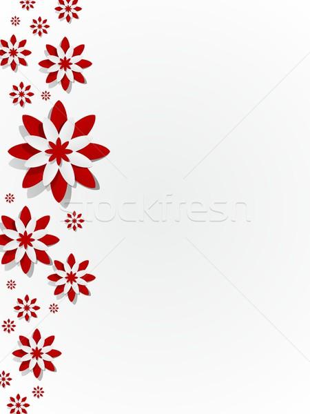 Fleurs Creative résumé décoratif fleur nature Photo stock © nicousnake