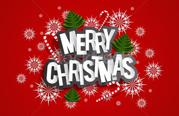 веселый Рождества конфеты деревья звезды Сток-фото © nicousnake