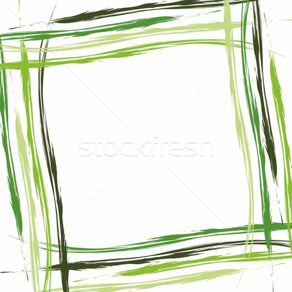 Creative résumé été vert bleu star Photo stock © nicousnake