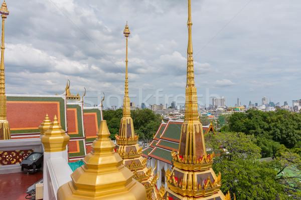 Bangkok Thaïlande métal château or architecture Photo stock © nicousnake