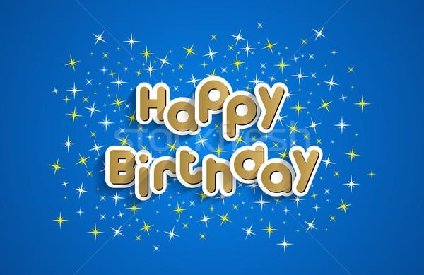 С Днем Рождения бумаги текстуры счастливым дети Сток-фото © nicousnake
