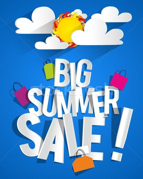 Verão venda nuvens sol negócio moda Foto stock © nicousnake