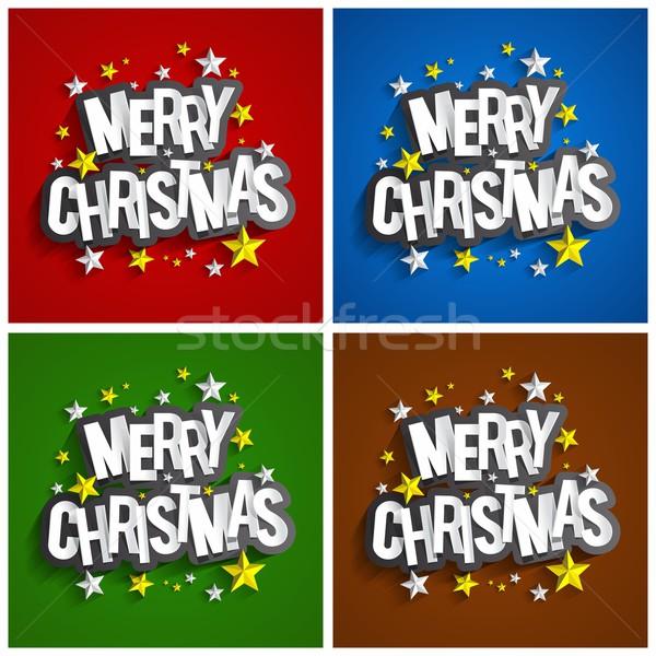 веселый Рождества Creative счастливым дизайна Сток-фото © nicousnake
