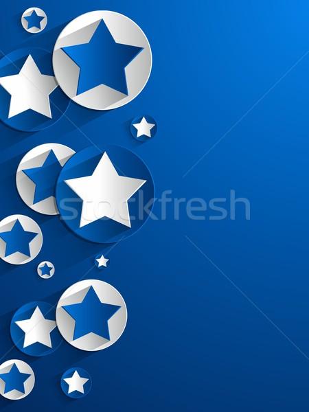 звезды Creative свет рождения искусства синий Сток-фото © nicousnake