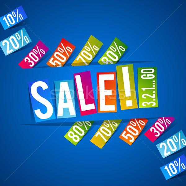 продажи Creative аннотация дизайна бизнеса моде Сток-фото © nicousnake