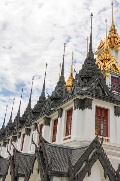 Photo stock: Bangkok · Thaïlande · métal · château · or · architecture