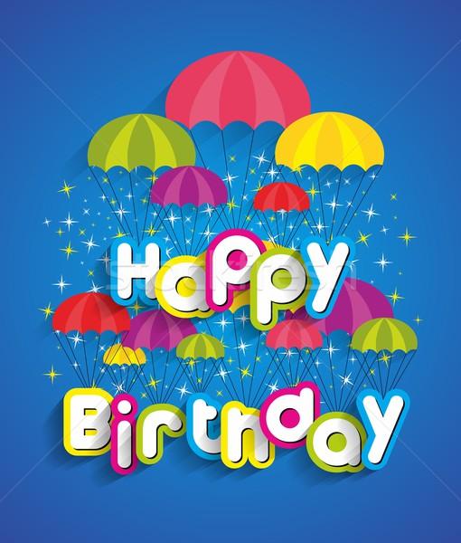 Feliz cumpleaños tarjeta de felicitación papel textura fiesta feliz Foto stock © nicousnake