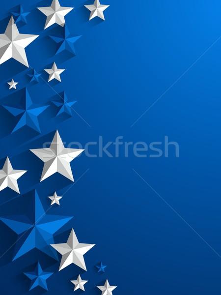 étoiles Creative lumière anniversaire art bleu Photo stock © nicousnake