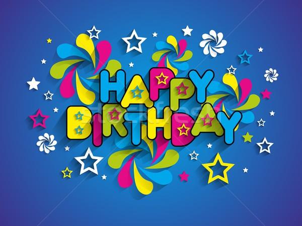 С Днем Рождения бумаги текстуры вечеринка счастливым Сток-фото © nicousnake