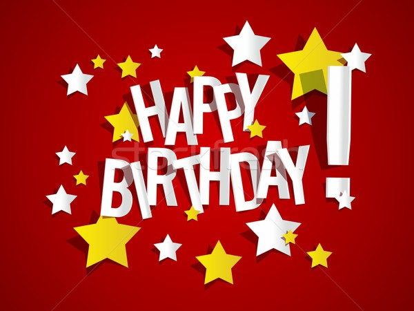 Joyeux anniversaire coloré carte de vœux papier texture heureux Photo stock © nicousnake
