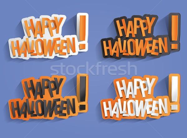 Szczęśliwy halloween karty elementy streszczenie Zdjęcia stock © nicousnake